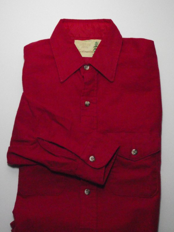 Mens Red Vintage Sears Fieldmaster Flannel Shirt - Size M