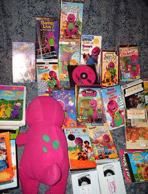 Recycletoys4kids Mix Lot Talking Barney 41 Vhs Veggie