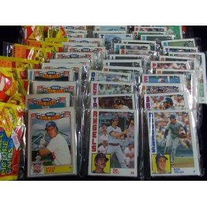 epacks swing and a hit baseball and football cards 1984 topps baseball un opened rack pack. Black Bedroom Furniture Sets. Home Design Ideas