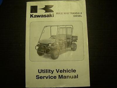 kawasaki mule 3010 service manual