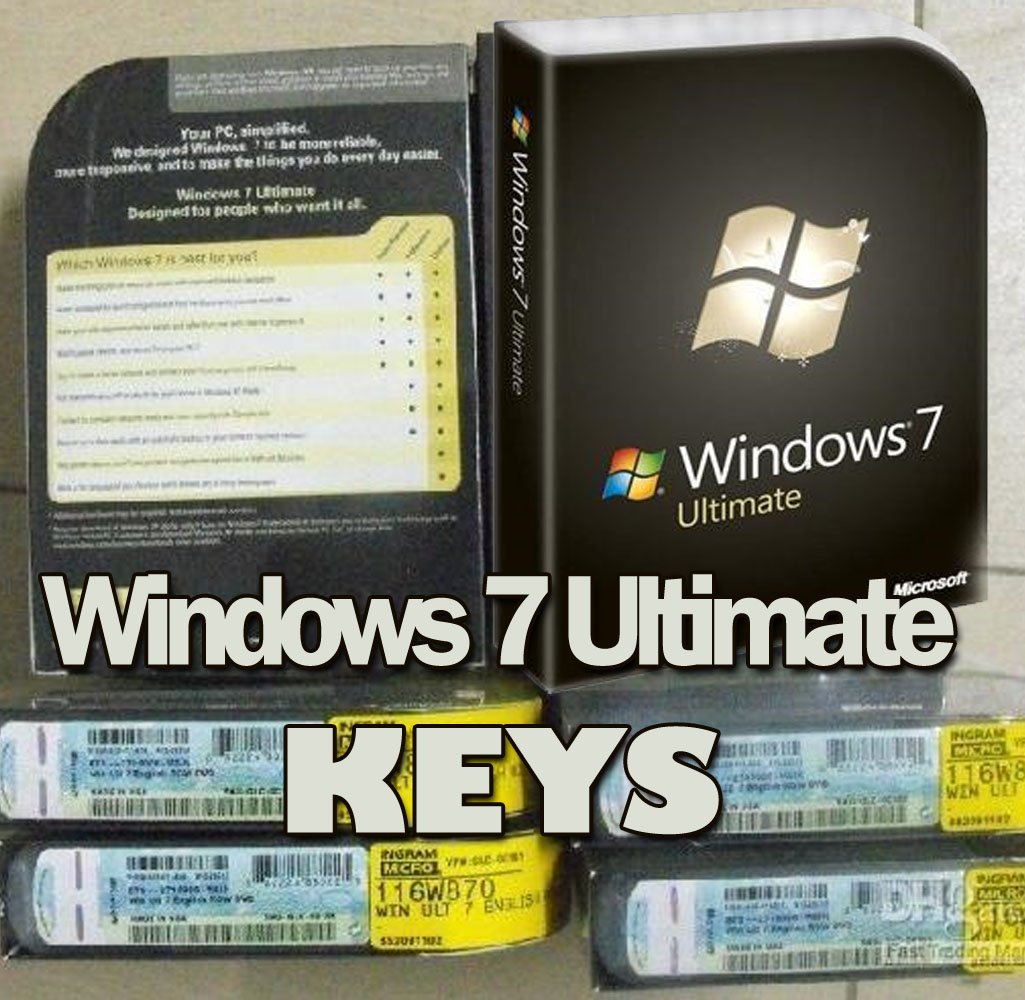 Windows 7 ultimate retail product key for Window 7 ultimate product key