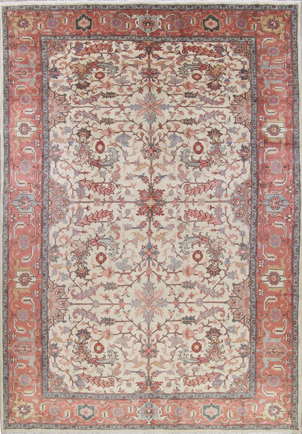 Palace Size Geometric All Over Heriz Serapi Persian Hand