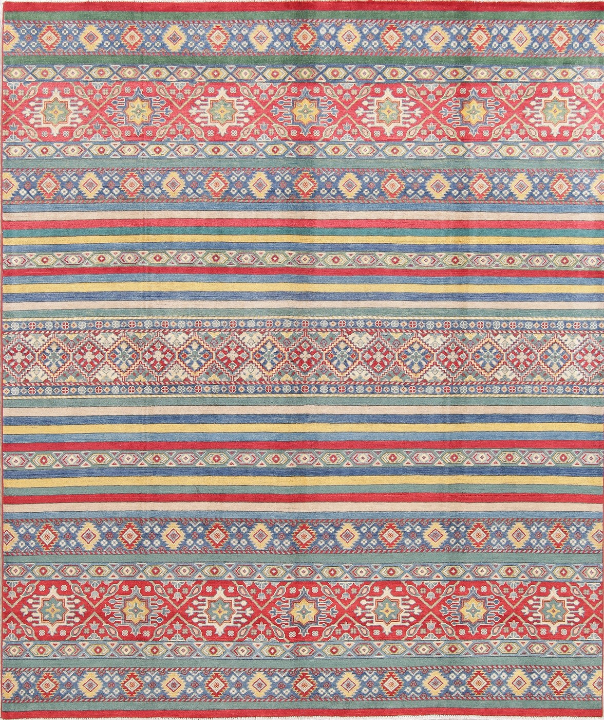 Breathtaking 8 X10 Wool Chechen Kazak Hand Knotted