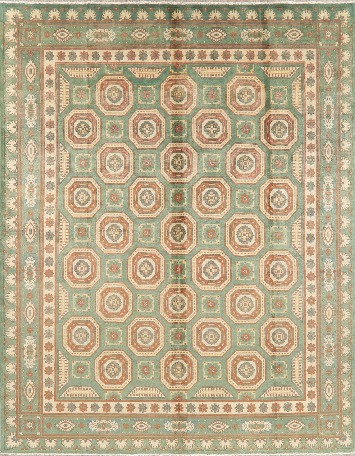 Details About Wool Geometric Super Kazak Emerald Green Rug Hand Knotted Oriental Area Rug 8x10