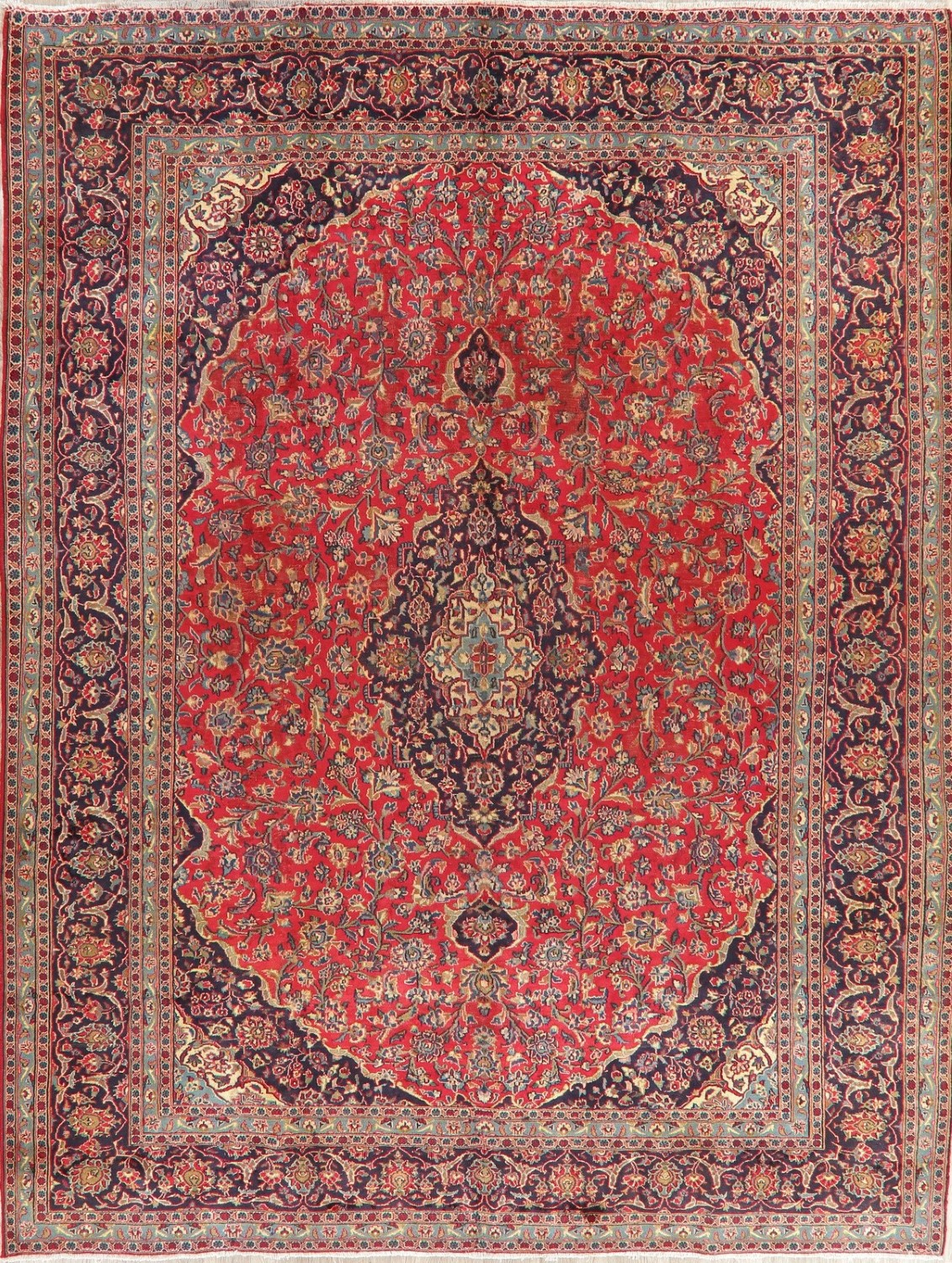 Antique Traditional Floral Persian Area Rug Oriental Hand