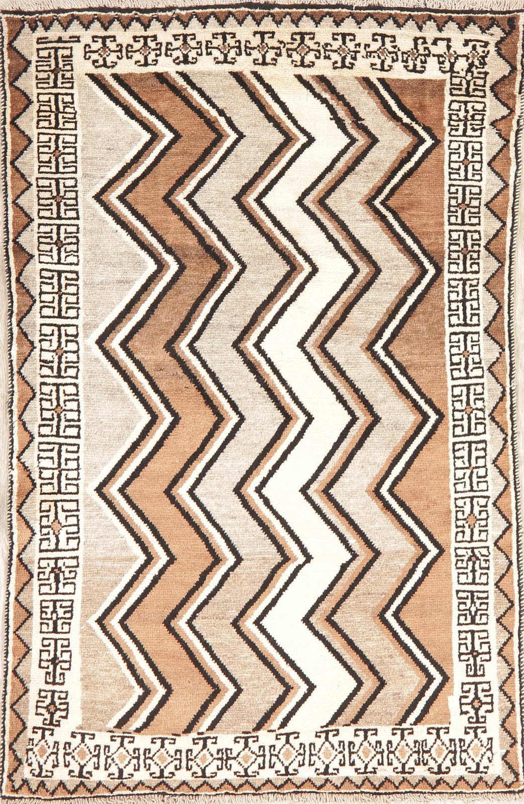 Details About Zig Zag Gabbe Modern Area Rug Earth Tone Oriental Hand Made Wool 4 X6