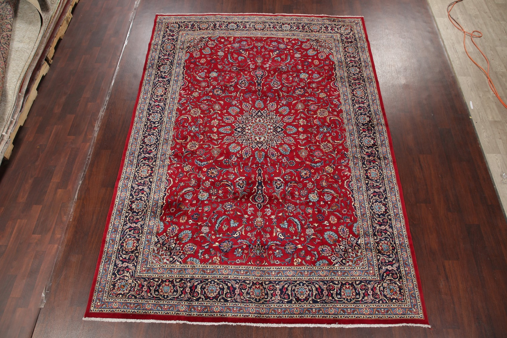 Vintage Floral Red Navy Oriental Ardakan Area Rug Wool Hand Knotted Carpet 8x12 Ebay