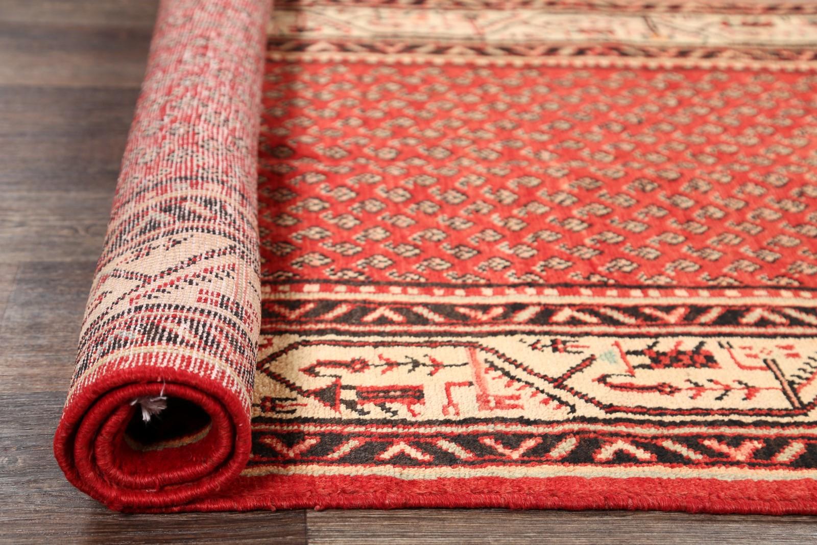 Vintage Simple All Over Boteh Runner Botemir Persian