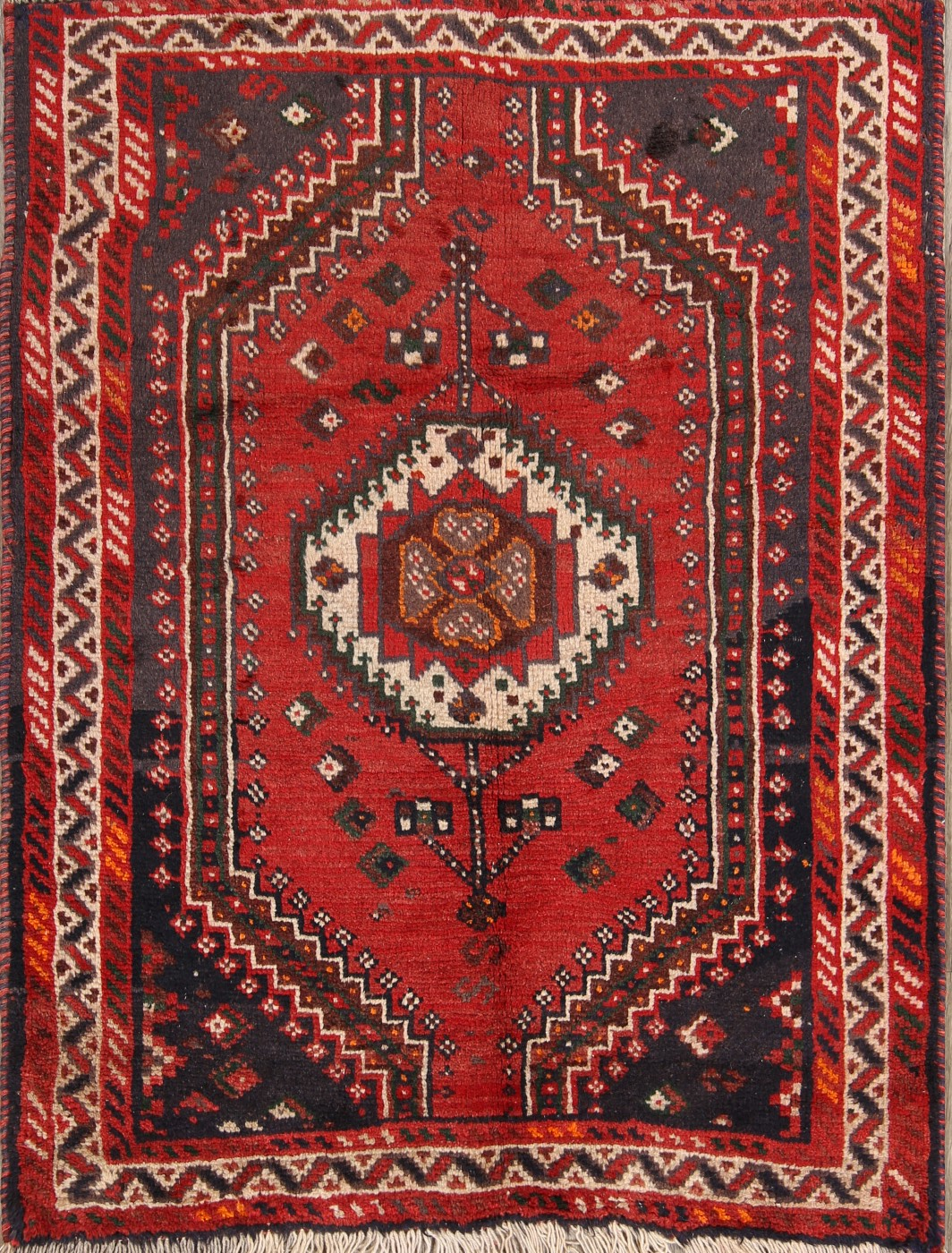 Square Foyer Rug : Clearance geometric foyer size shiraz persian oriental