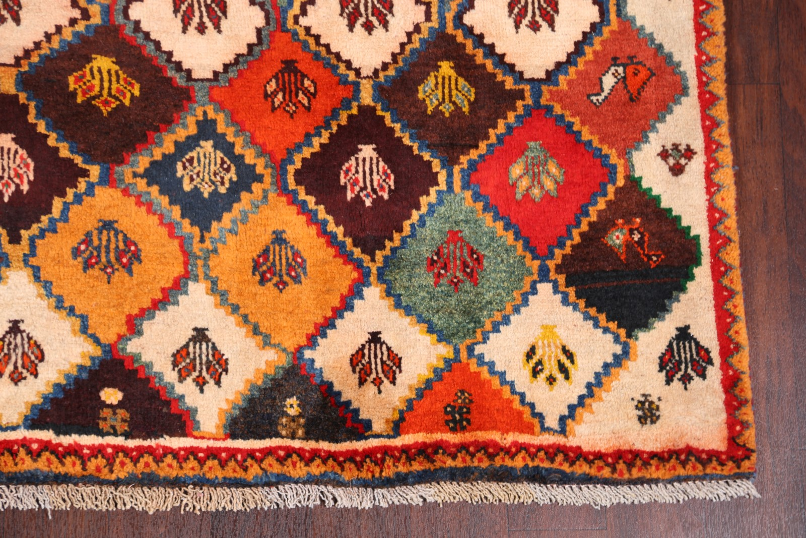 Geometric Tribal Color Full Gabbeh Persian Handmade