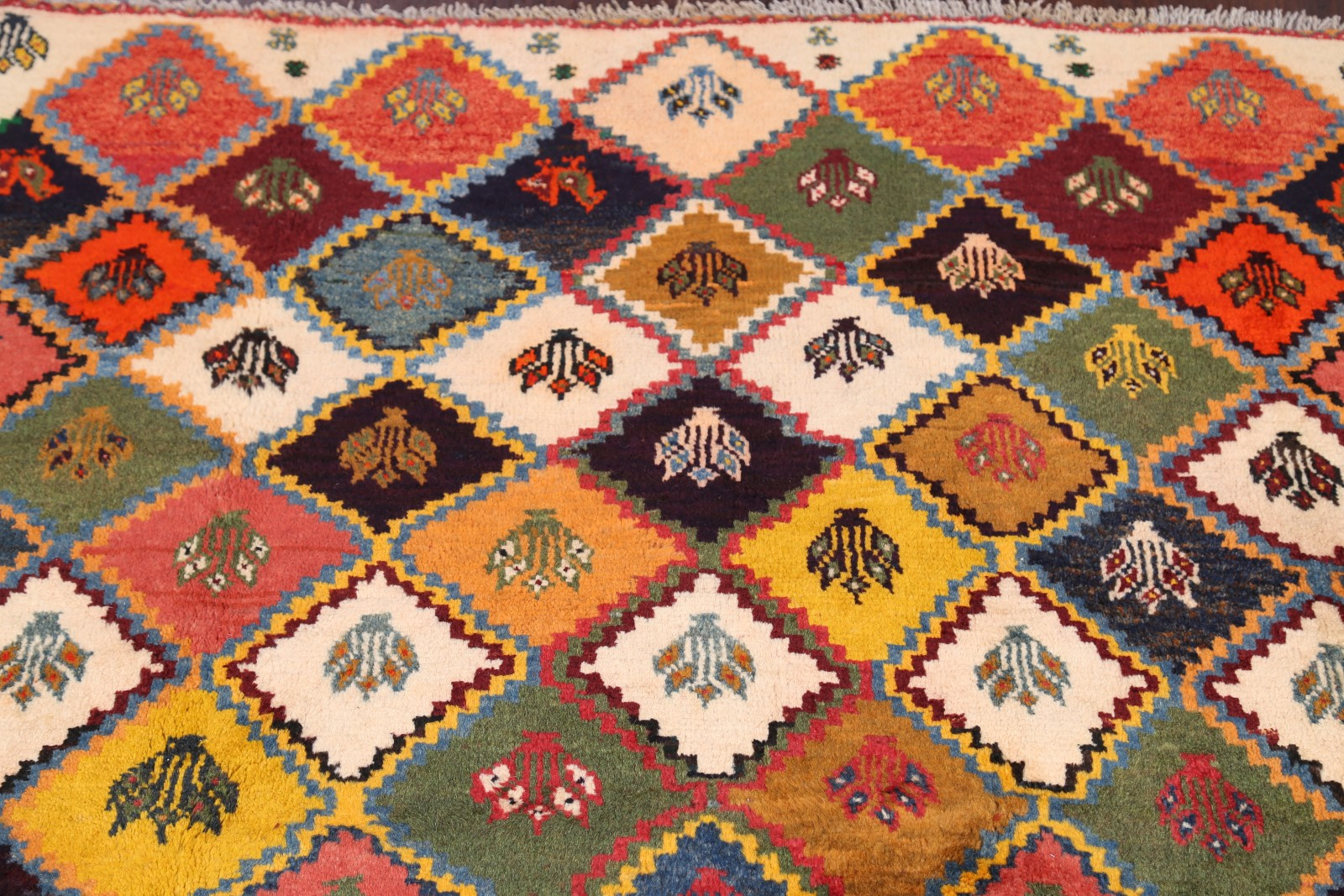 Geometric Tribal Color Full Gabbeh Persian Handmade