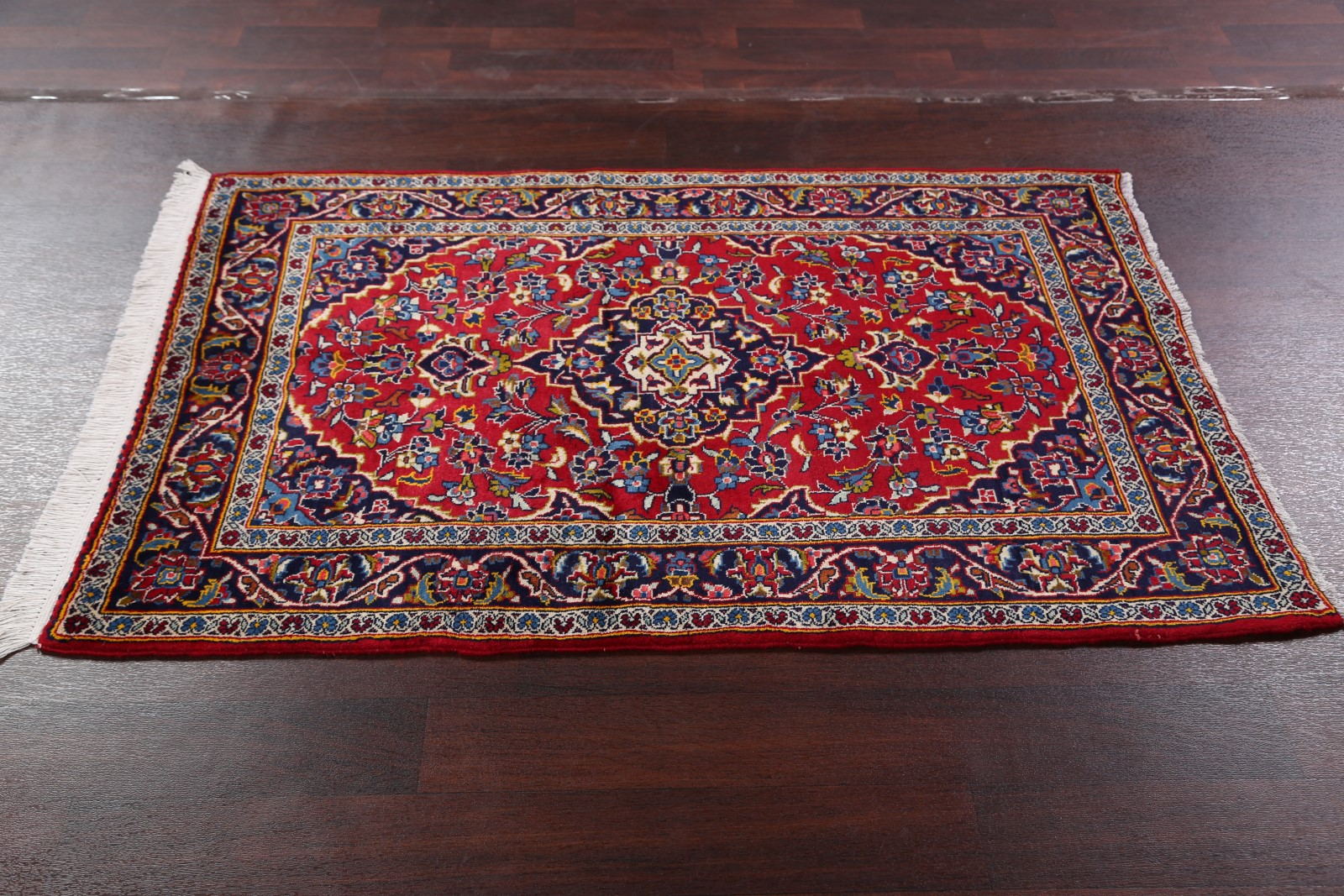 Excellent Floral Red 3x5 Kashan Persian Oriental Area Rug