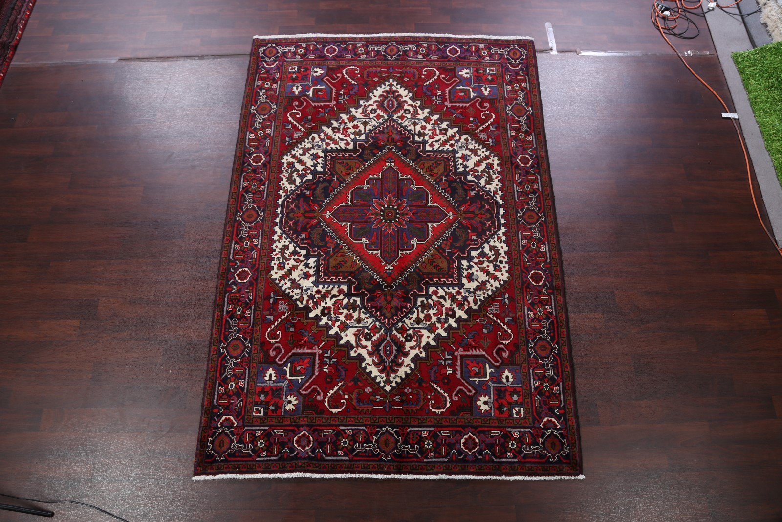Details About One Of A Kind Vintage Geometric Oriental Hand Knotted 7x10 Wool Area Rug