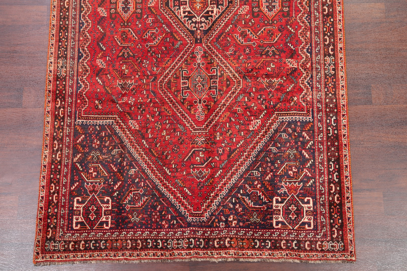Antique Geometric Tribal 6x9 Abadeh Oriental Hand Knotted