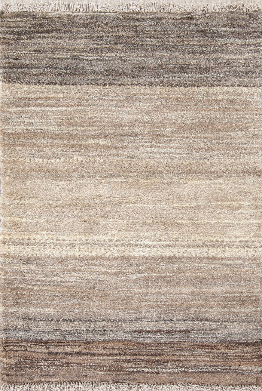 Details About Thick Pile Striped Natural Dye Gabbe Zolanvari Modern Wool Rug Handmade 3x4ft