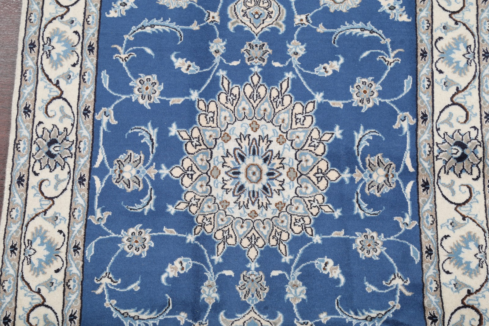 Top Deal Charming Light Blue Floral 4x7ft Nain Persian