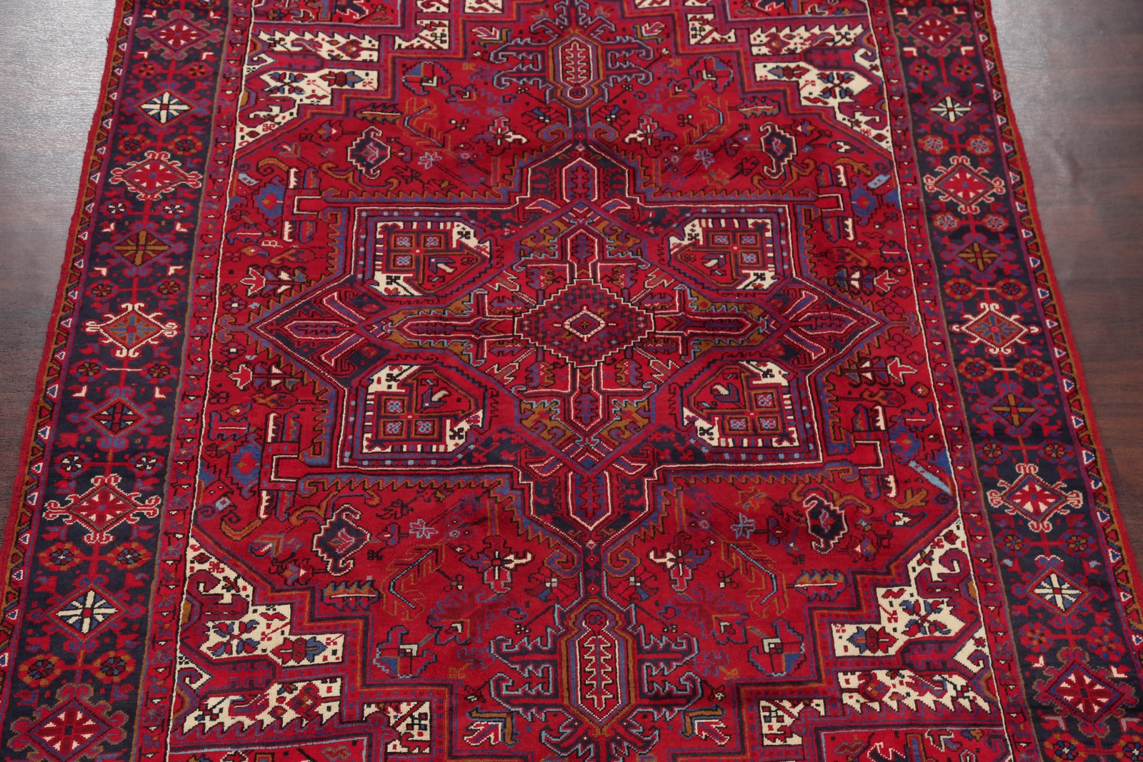 Overwhelming Geometric Red Area Rug Oriental Carpet Hand