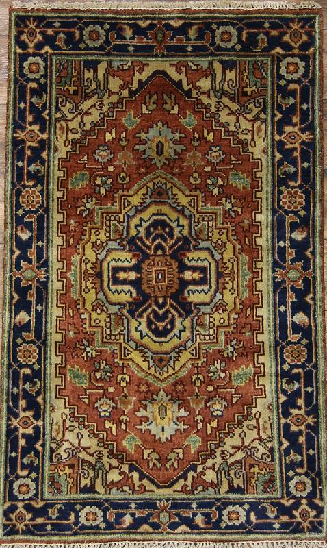 Foyer Rug Uk : Handmade floral foyer size heriz persian oriental area