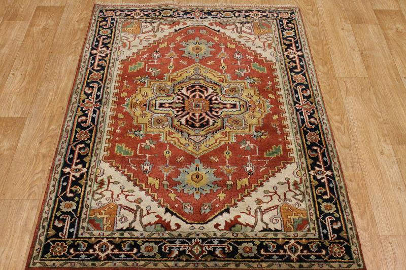 Red Foyer Rug : Geometric handmade foyer size red indo heriz oriental