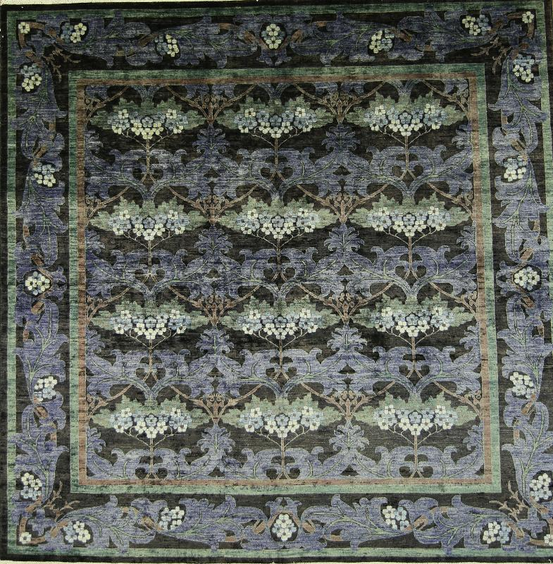 10x10 Square New Oushak Oriental Wool Area Rug: Square Handmade Art & Craft Mission Style 10x10 Oushak