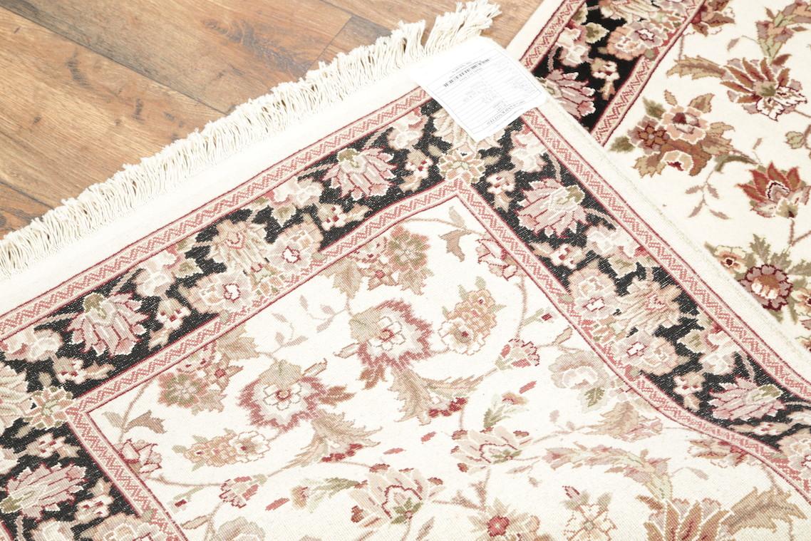 Wool Amp Silk Floral Ivory Runner 3x12 Kashan Chinese