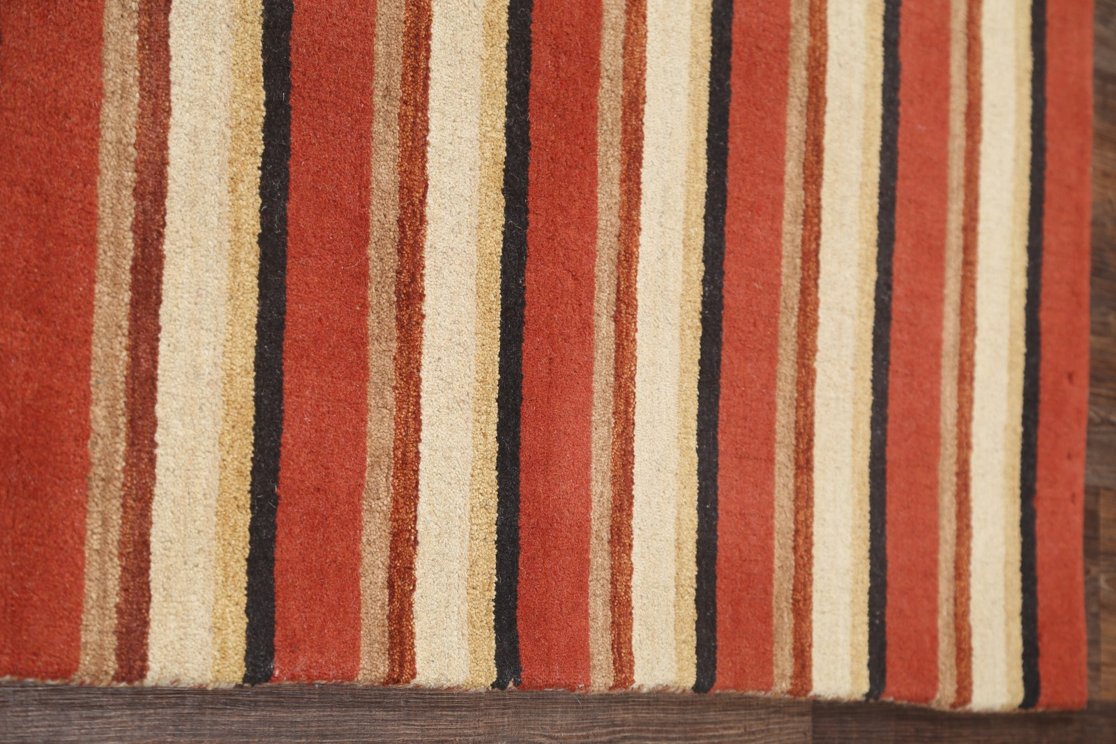 Stripe Loom Multi Colored Modern Gabbeh Oriental Hand