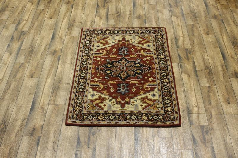 MAGNIFICENT FOYER SIZE! 4X6 HERIZ PERSIAN ORIENTAL AREA RUG WOOL CARPET NEW