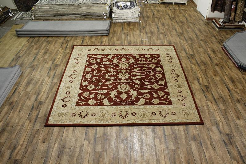 Large floral red square 10x10 oushak persian oriental area for 10x10 carpet