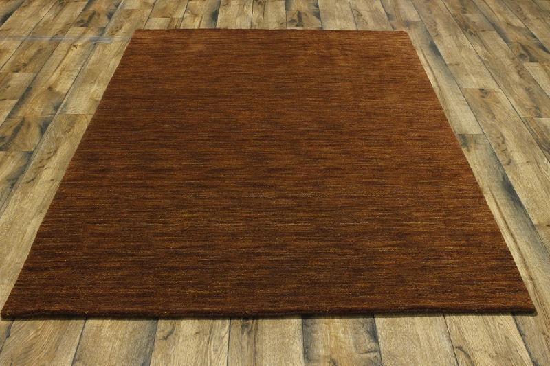 Handmade Rust Color Solid Pattern 5x7 Modern Gabbeh
