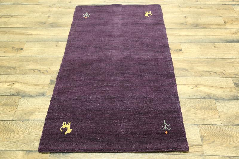 What Size Should Foyer Rug Be : Handmade purple color modern foyer size gabbeh