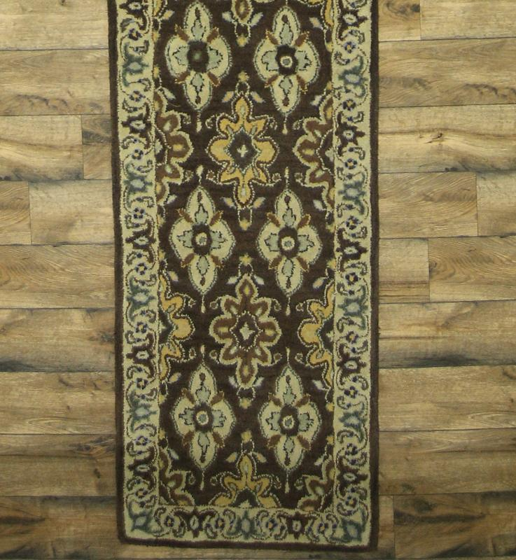 New Hand-tufted Palace Sized Floral Runner 3x19 Agra