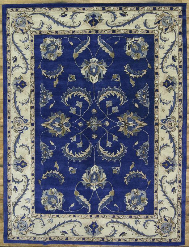 Hand Tufted All Over Pattern Blue 9x12 Tabriz Persian