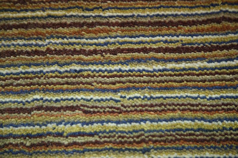 Stripe Design Multi Colored Handmade Modern 7x10 Gabbeh
