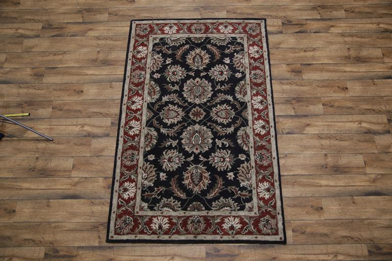 All-Over Pattern Floral Black 5x8 Agra Jaipur Oriental Area Rug Wool Carpet : eBay
