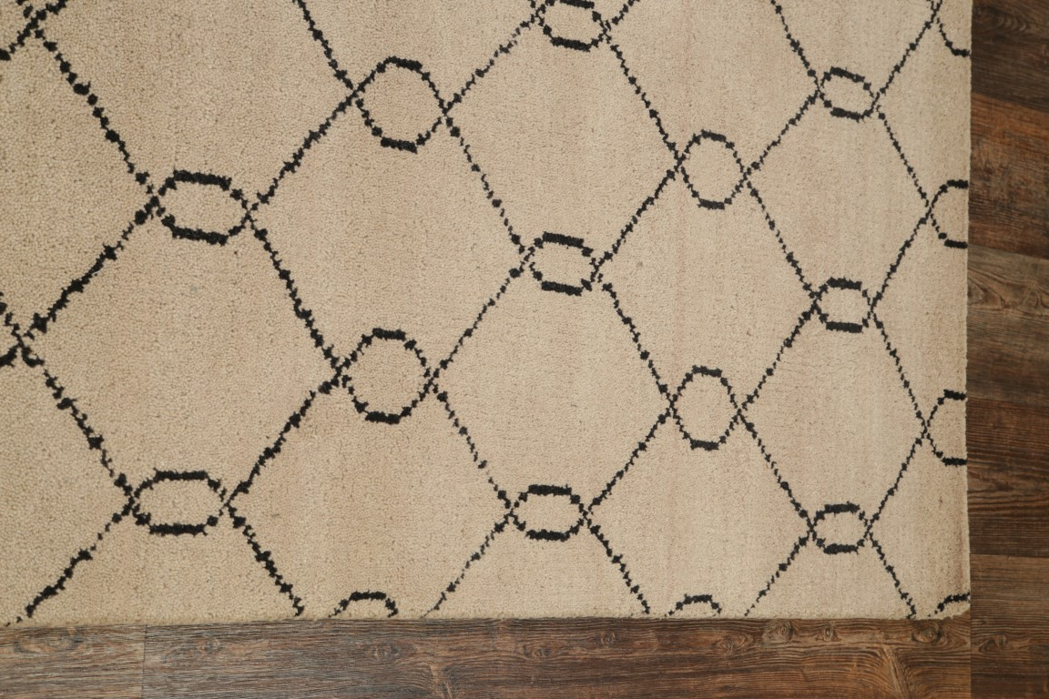 Earth Tone Hand Knotted Geometric 5x8 Moroccan Trellis