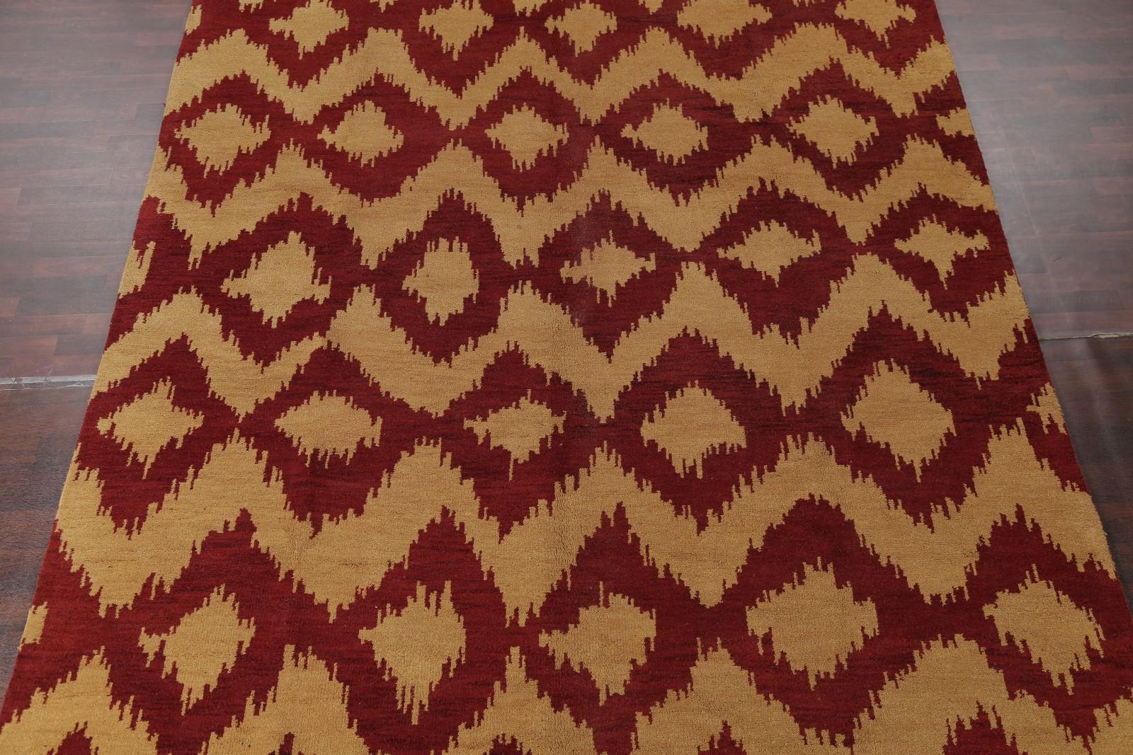 Geometric Modern Gold Moroccan Trellis Indoor Indo