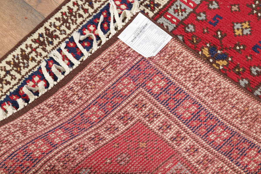 Foyer Rug Size : Geometric foyer size red kazak oriental area rug wool