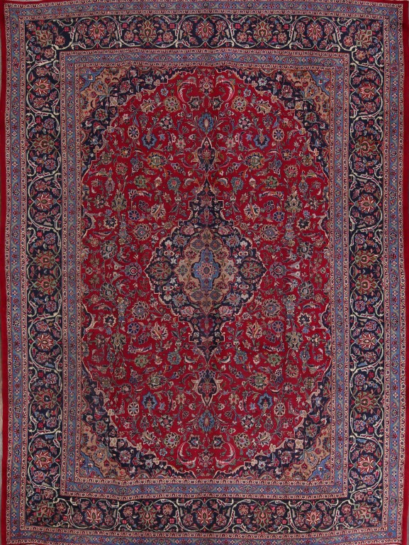 Traditional Floral Burgundy 10x13 Kashmar Persian Oriental Area Rug Wool Carpet