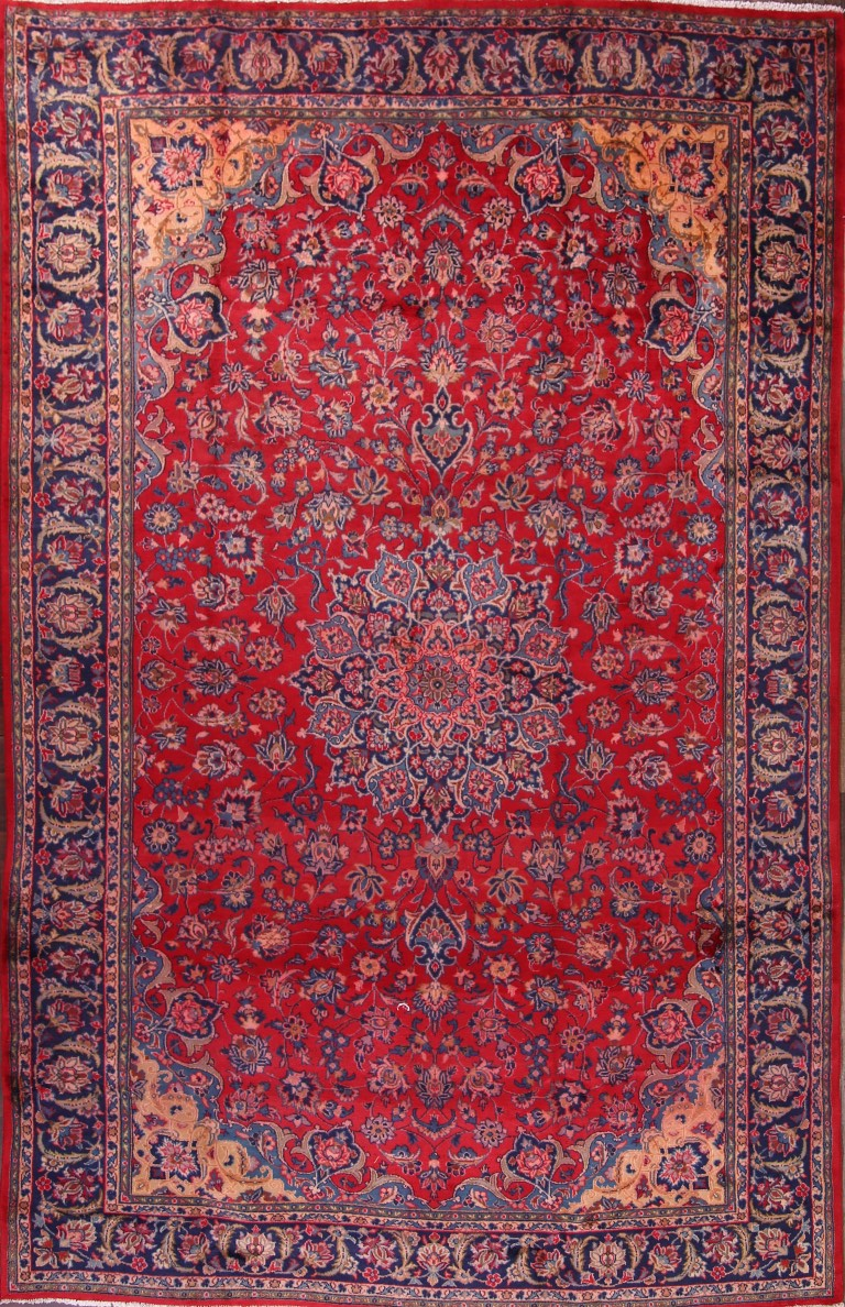Clearance Sale Floral Red 8x12 Isfahan Persian Oriental