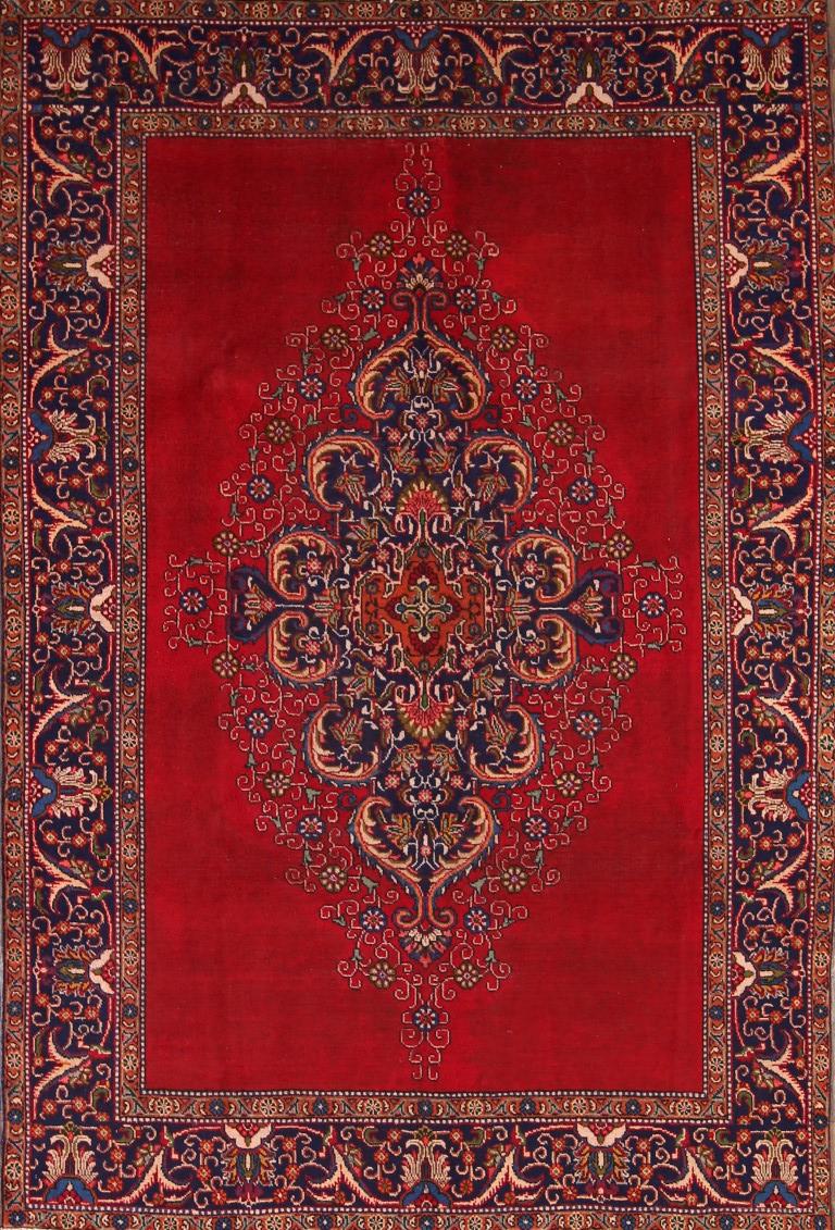 Great Deal Semi-Antique Geometric Red 6x9 Tabriz Persian Oriental Area Rug Wool : eBay
