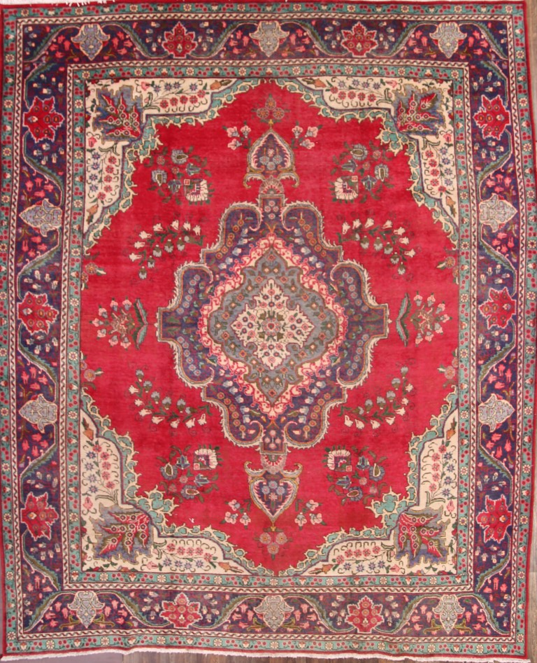 Great Deal Antique Geometric Red 10x12 Tabriz Persian