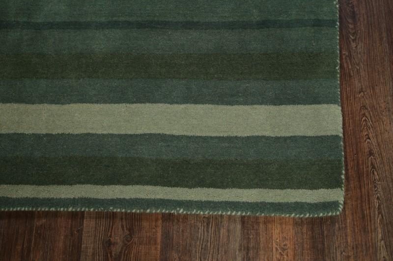 Striped Contemporary Gabbeh Oriental Hand Tufted Square