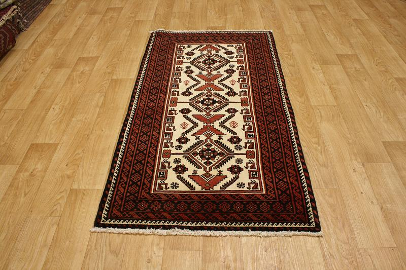 Excellent Tribal 3x6 Balouch Persian Oriental Area Rug Wool Carpet