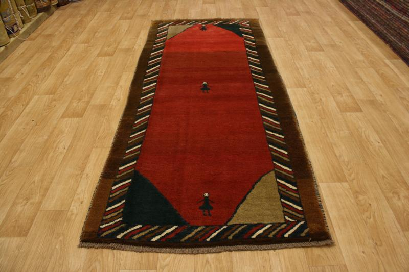 Thick Pile Runner 4x10 Gabbeh Persian Oriental Area Rug