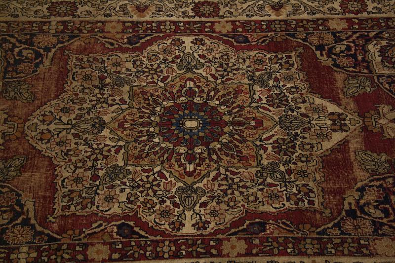 Over 100 Years Old Antique 4x6 Ravar Kerman Persian Oriental Area Rug