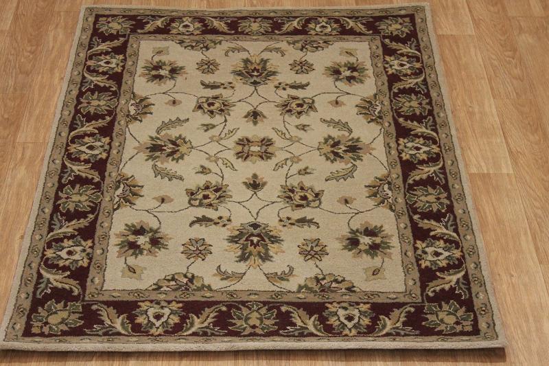 hand tufted floral traditional style 5x7 nourison brand oriental rug area carpet ebay. Black Bedroom Furniture Sets. Home Design Ideas