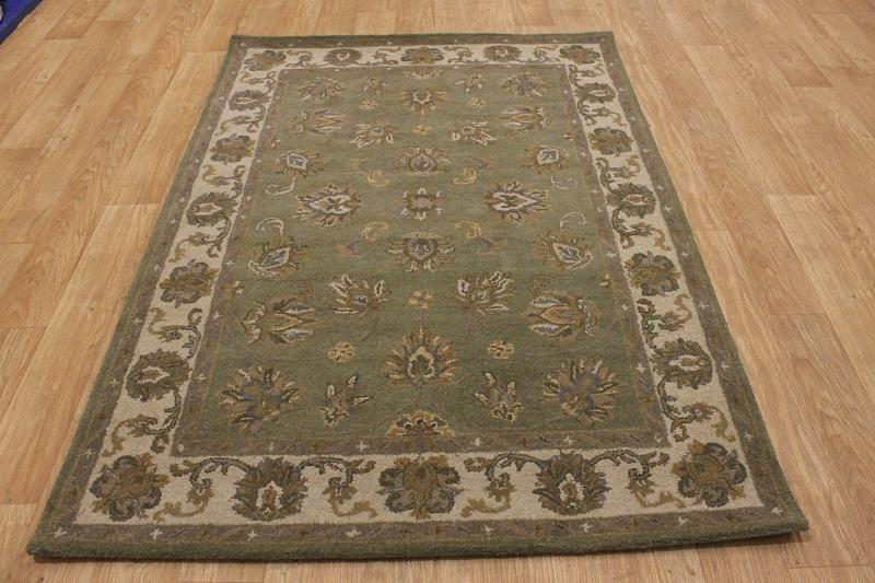 Sage Green 5x7 Traditional Style Nourison Kashan Persian