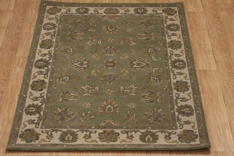 sage green nourison brand 5x7 oushak agra oriental area rug wool carpet ebay. Black Bedroom Furniture Sets. Home Design Ideas