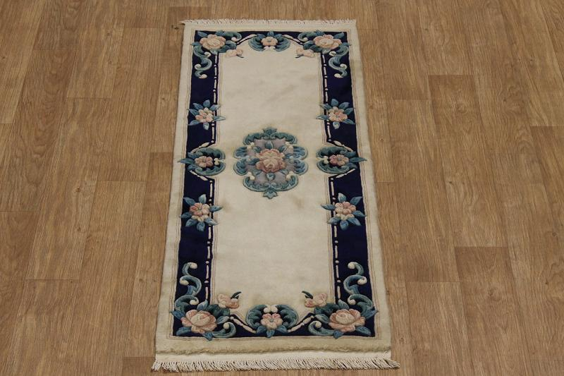 Floral Runner 2x6 Art Deco Aubusson Chinese Oriental Area