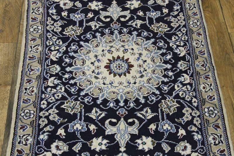 Navy Foyer Rug : Navy blue floral foyer size nain isfahan persian